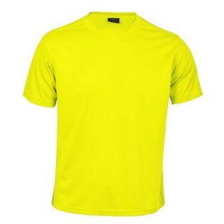 Camiseta Deportiva de Manga Corta Unisex 145247 Color Amarillo Talla M