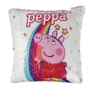 Cojín Sirena Mágica de Lentejuelas Peppa Pig 74492 Rosa