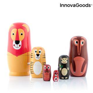 Matryoshka de Madera con Figuras de Animales Funimals InnovaGoods 11 Piezas