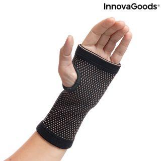 Muñequera de Sujeción con Hilos de Cobre y Carbón de Bambú Wristcare InnovaGoods L/XL