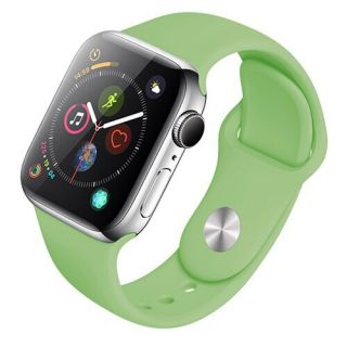 Correa Deportiva para Apple Watch 42/44 mm Apple Watch 3 Apple Watch Serie 5 Correa Silicona de Reloj Color Aguacate