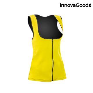 InnovaGoods Chaleco Deportivo con Efecto Sauna para Mujer Elástico y Flexible Talla XL