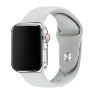 Apple Watch Correa Deportiva Fluoroelastómero Coerreas de Reloj de Pulsera Silicona Color Gris