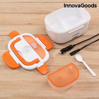 InnovaGoods Fiambrera Eléctrica para Coches 40W 12V Blanco&Naranja