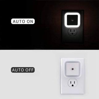 Enchufe de Luz Lámpara Nocturna Automática Infantil Quitamiedos para Niños Bebé Sensor Inteligente