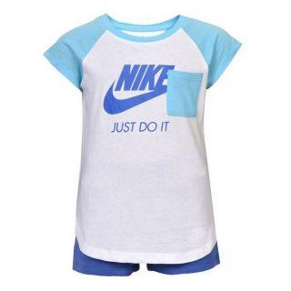 Conjunto Deportivo para Bebé Nike 919-B9A Azul Blanco Talla 18 Meses
