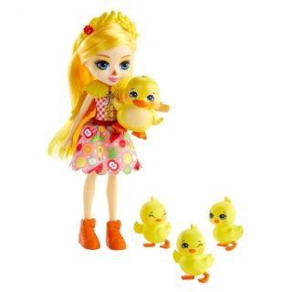 Muñeca con Mascota Enchantimals Dinah Duck Mattel (15 cm)
