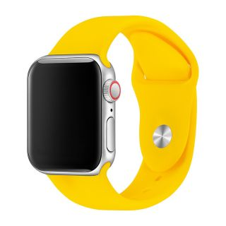 Apple Watch Correa Deportiva Fluoroelastómero Coerreas de Reloj de Pulsera Silicona Color Amarillo