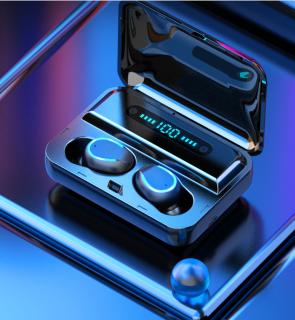 Auriculares TWS F9-5 Bluetooth Inalámbricos CVC 8.0 Estéreo HIFI Micrófono Incorporado Reducción de Ruido Teléfono Mano Libre Estuche de Carga con Pantalla Digital