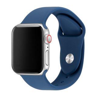 Apple Watch Correa Deportiva Fluoroelastómero Coerreas de Reloj de Pulsera Silicona Color Marino