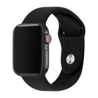 Apple Watch Correa Deportiva Fluoroelastómero Coerreas de Reloj de Pulsera Silicona Color Negro