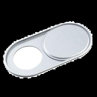 Tapa Webcam Con Cubierta Metalica Adhesivo Pegatina Para Proteger Intimidad Color Plata