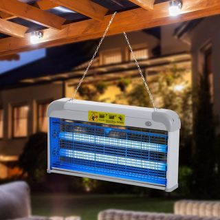Lampara Antimosquitos 20W Luz UV para Mata Moscas Eléctrica para Hogar y Jardín