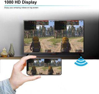 Receptor Inalámbrico de Pantalla 4K para Chromecast Android iOS Plug and Play TV Stick HDMI WiFi Display Dongle 1080HD Mini Adaptador de Pantalla Compartida