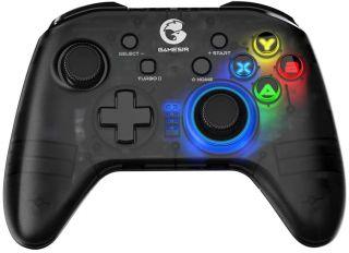 GameSir T4 Pro Controlador inalámbrico de Juegos Mando Bluetooth para Windows 7 8 10 PC / iOS / teléfono Android / Nintendo Switch, Joystick móvil Recargable Gamepad para Juegos MFi, retroiluminación LED