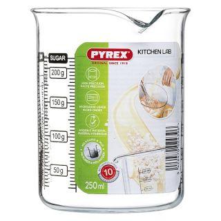Vaso Pyrex Kitchen Lab Transparente Vidrio Capacidad 0,75 L