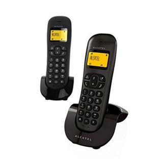 Teléfono Inalámbrico Alcatel C-250 Duo Negro