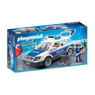 Coche con Luz y Sonido City Action Police Playmobil 6920 Blanco