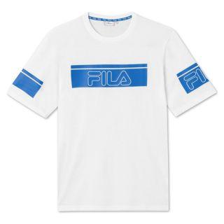 Camiseta de Manga Corta Hombre Fila 683085.M67 Blanco Talla S
