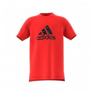 Camiseta de Manga Corta Niño Adidas YB Prime Log TE Rojo