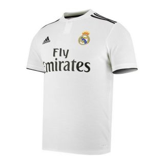 Camiseta de Fútbol de Manga Corta Hombre Adidas Real Madrid Blanco 18/19 (1ª) Talla XL