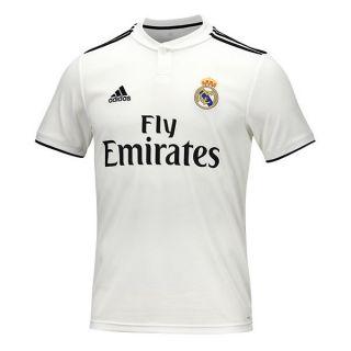 Camiseta de Fútbol de Manga Corta Hombre Adidas Real Madrid Blanco 18/19 (1ª) Talla L