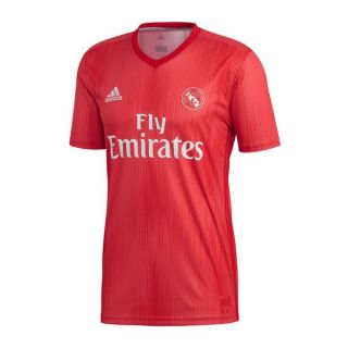 Camiseta de Fútbol de Manga Corta Hombre Adidas Real Madrid Rojo 18/19 (3ª) Talla M