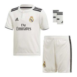 Set Equipación de Fútbol para Niños Adidas Real Madrid Blanco 18/19 (1ª) (3 Pcs) Talla 14-16 Años