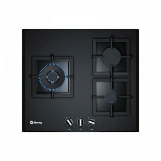 Placa de Gas Balay 3ETG663HN (60 cm) Negro Cristal (3 Fogones)