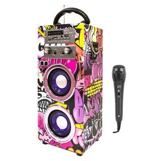 Altavoz Karaoke con Microfono Altavoz Bluetooth 20W Portátil Radio FM / Lector USB / TF Card con mando Control Remoto