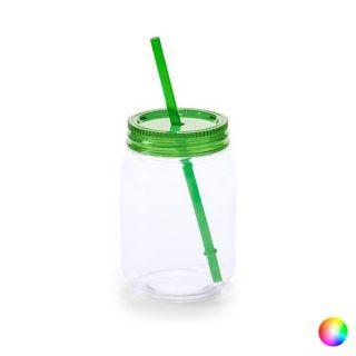 Jarra con Tapa y Pajita (600 ml) 144820 Color Transparente