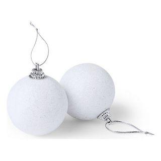 Bolas de Navidad (6 pcs) 145107 Color Blanco