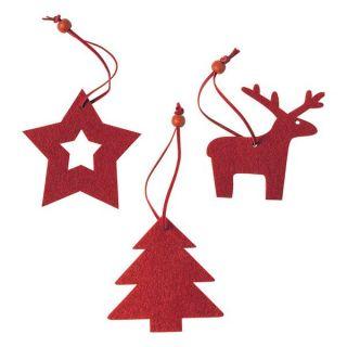 Set Adornos de Navidad (3 pcs) 145197 Color Rojo