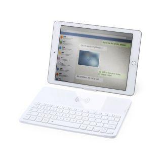 Teclado Bluetooth con Cargador Inalámbrico Qi Blanco 146129