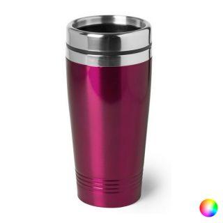 Vaso de Acero Inoxidable 146403 (450 ml) Color Fucsia