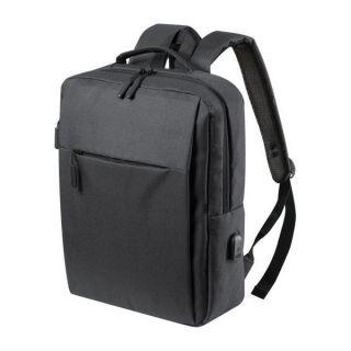 Mochila para Portátil y Tablet con Salida USB 146473 Color Negro