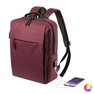 Mochila para Portátil y Tablet con Salida USB 146473 Color Azul