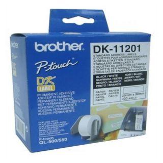 Etiquetas para Impresora Brother DK11201 29 x 90 mm Blanco