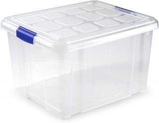 Caja de Almacenamiento Transparente 25 Litros sin Ruedas Plastic Forte