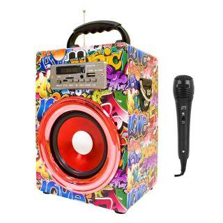 Altavoz Karaoke Portátil Bluetooth Reproductor con Micrófono Radio FM / USB / TF Card
