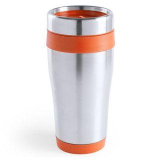Vaso de Acero Inoxidable (450 ml) 145100 Color Naranja