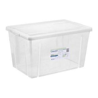 Caja de Almacenaje con Tapa Tontarelli 54 L Transparente (59 X 39 x 33 cm)
