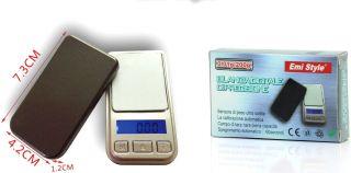 Mini Portátil Báscula Digital de Precisión 0,01 G - 500 G Pantalla Retroiluminada Led Báscula de Bolsillo Digital Mini para Joyas de Cocina Drogas Té Levadura Café y Otros