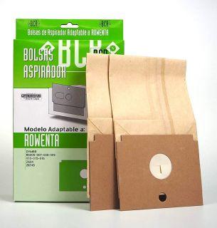Bolsa Aspirador Rowenta Dymbo R-Ro12 Caja 2 Unidades Papel Ecológico de Doble Capa Marrón R012