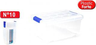 Caja Multiuso Transparente 5 L Plastic Forte 11339