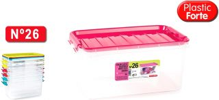 Caja N26 34X22.5X15.5 8Lt Plastic Forte