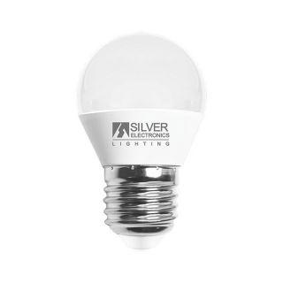 Bombilla LED Esférica Silver Electronics 960727 E27 7W Luz cálida 5000K