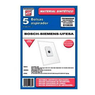 Bolsa de Recambio para Aspiradora Tecnhogar 915639 (5 uds)