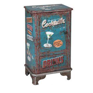 Mesa Auxiliar Cocktails 116268 Retro Azul (75 X 44 x 30 cm)