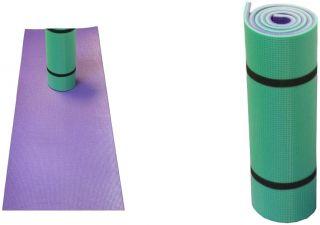 Esterilla Yoga Colchoneta Fitness Verde-Morado 50X170cm